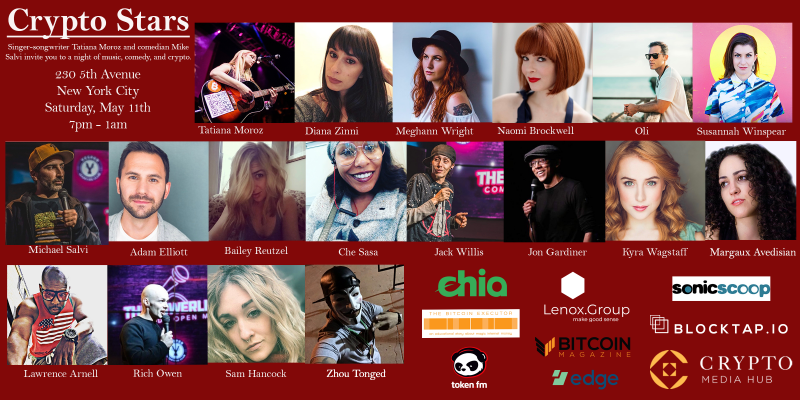 Crypto Stars: May 11th Music and Comedy for the Community